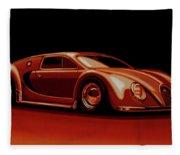 Bugatti Veyron 'beetgatti' 1945 Painting Fleece Blanket