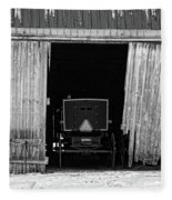 Buggy In The Barn Fleece Blanket