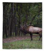 Bull Elk Bugle Fleece Blanket