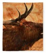 Bugling Bull Elk Autumn Background Fleece Blanket