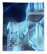 Building At Harbour  Fleece Blanket by Colette V Hera Guggenheim