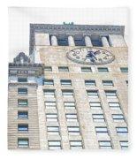 Building Closeup In Manhattan 11 Fleece Blanket