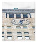 Building Closeup In Manhattan 12 Fleece Blanket