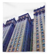 Building Closeup In Manhattan 14 Fleece Blanket