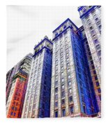 Building Closeup In Manhattan 15 Fleece Blanket