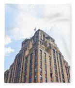 Building Closeup In Manhattan 2 Fleece Blanket