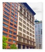 Building Closeup In Manhattan 5 Fleece Blanket