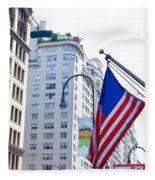 Building Closeup In Manhattan 9 Fleece Blanket