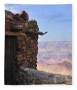 Building On The Grand Canyon Ridge Fleece Blanket