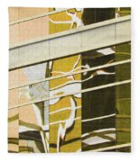 Building Reflection Abstract Color. Fleece Blanket