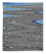Building Stretch Abstract Fleece Blanket