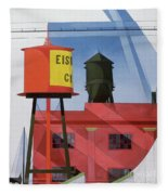 Buildings Abstraction Fleece Blanket
