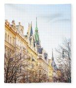 Buildings In Prague Fleece Blanket