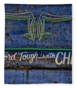 Built Ford Tough With Chevy Stuff Fleece Blanket