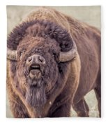 Bull Bison Fleece Blanket