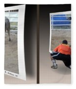 Bull Challenge - Gently Cross Your Eyes And Focus On The Middle Image Fleece Blanket