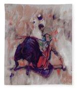 Bull Fight 009k Fleece Blanket