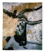 Bull: Lascaux, France Fleece Blanket