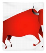 Bull Looks Like Cave Painting Fleece Blanket