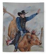 Bull Rider Fleece Blanket