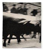 Bull Run 3 Fleece Blanket
