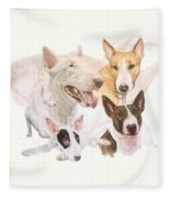 Bull Terrier W/ghost Fleece Blanket