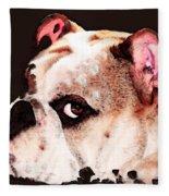 Bulldog Art - Let's Play Fleece Blanket