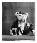 Bulldog, C1905 Fleece Blanket