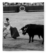 Bullfighting 22b Fleece Blanket
