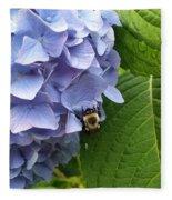 Bumble Bee Blues Fleece Blanket