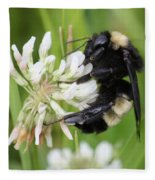 Bumble Bee By The Pond Fleece Blanket