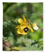 Bumblebee Deep Into Work Fleece Blanket