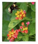 Bumble Bee In Flight Fleece Blanket