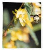 Bumblebee Heading Into Work Fleece Blanket