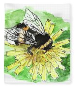 Bumblebee Fleece Blanket