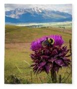 Bumblebee With The Best View Fleece Blanket