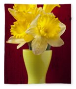Bunch Of Daffodils Fleece Blanket