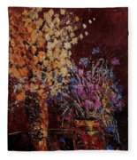 Bunch Of Dried Flowers  Fleece Blanket