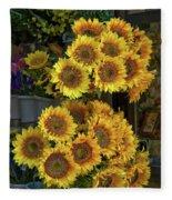 Bunches Of Sunflowers Fleece Blanket