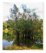 Bundek Park Zagreb #3 Fleece Blanket