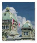 Bundeshaus The Federal Palace Fleece Blanket