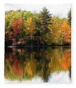 Bunganut Lake Maine Foliage 10 2016 Fleece Blanket