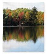 Bunganut Lake Maine Foliage 11 2016 Fleece Blanket