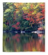 Bunganut Lake Maine Foliage 13 2016 Fleece Blanket