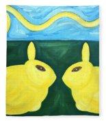 Bunnies Talking Fleece Blanket