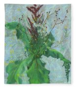 Burdock Leaves  Fleece Blanket