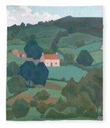 Burford Farm, Devon, 1918 Fleece Blanket