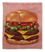 Burger Fleece Blanket