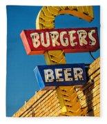 Burgers And Beer Fleece Blanket