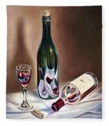 Burgundy Still Fleece Blanket